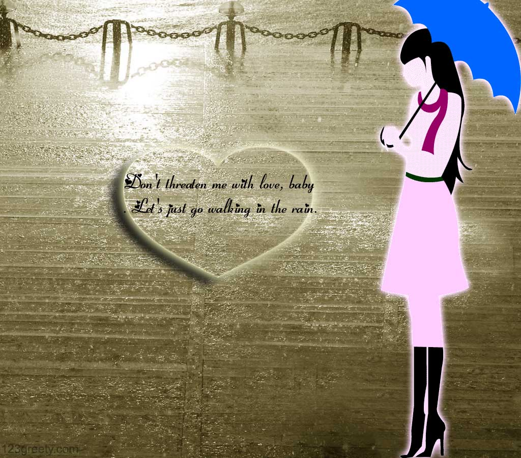 Cute Rain Wallpaper With Rain Quotes