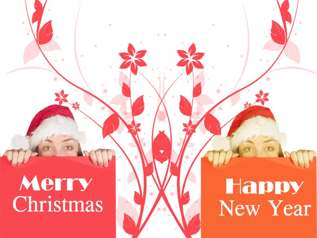 Merry Christmas And Happy New Year Wallpaper 123greety