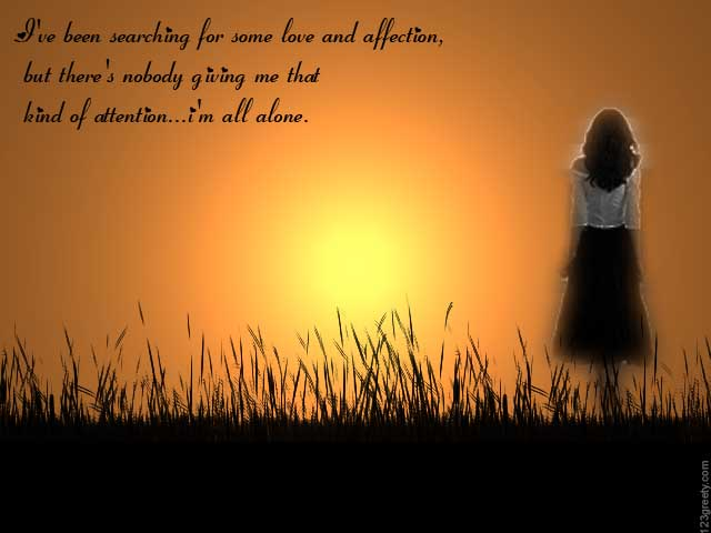 Lonely Love Quotes : Lonely Quotes For Lonely Feeling With Picture