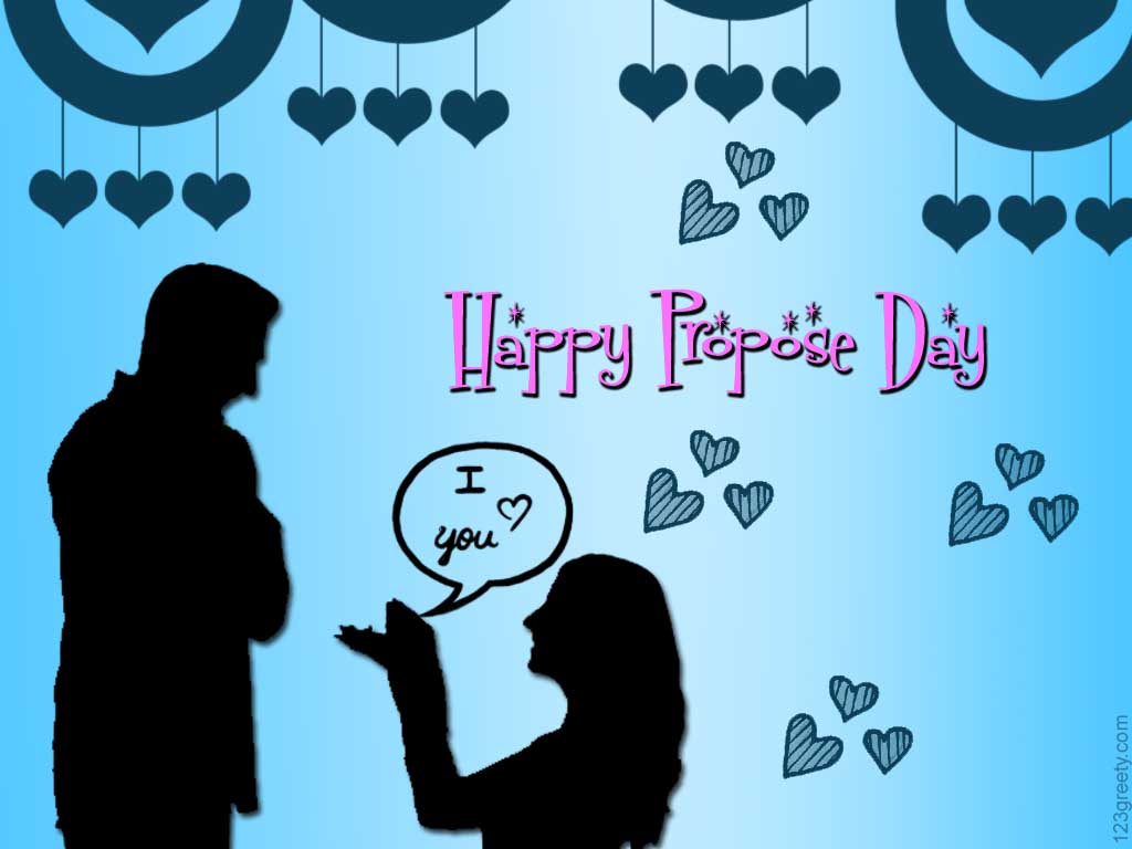 Happy valentine s day 2013 greetings wallpapers and - Boy propose girl with rose image ...