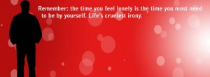 Lonely Facebook cover photo